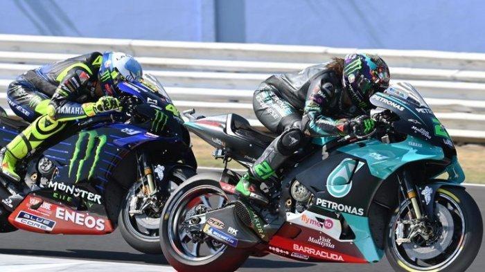Franco Morbidelli dan Valentino Rossi di MotoGP San Marino