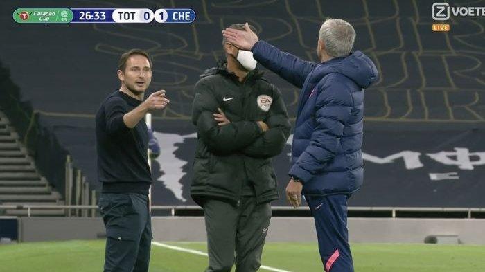 Frank Lampard dan Jose Mourinho adu mulut