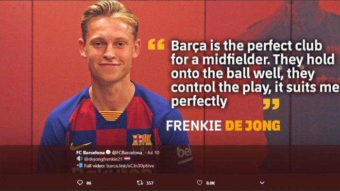 Tampil Menawan Lawan Chelsea, Frenkie de Jong Jadi Ancaman Buat Sergio Busquets di Barcelona
