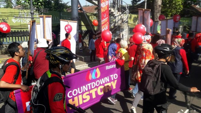 Tingkatkan Kepedulian Masyarakat Akan Pentingnya Imunisasi Polio, Klub Rotary Gelar Fun Walk