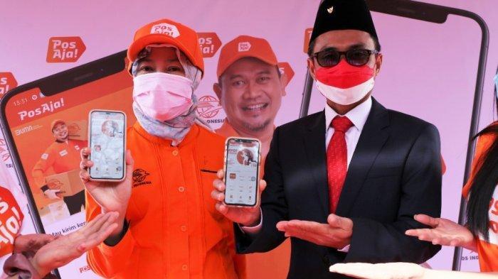 Garap Market Milenial dan Family, Pos Indonesia Luncurkan Platform Digital Courier Pos Aja