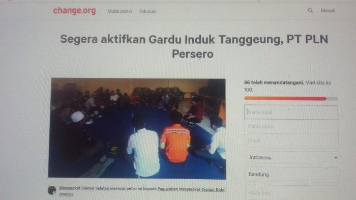 Kesal Mati Lampu Sehari Bisa 5 Kali, Warga Cianjur Selatan Buat Petisi di Laman Change.org