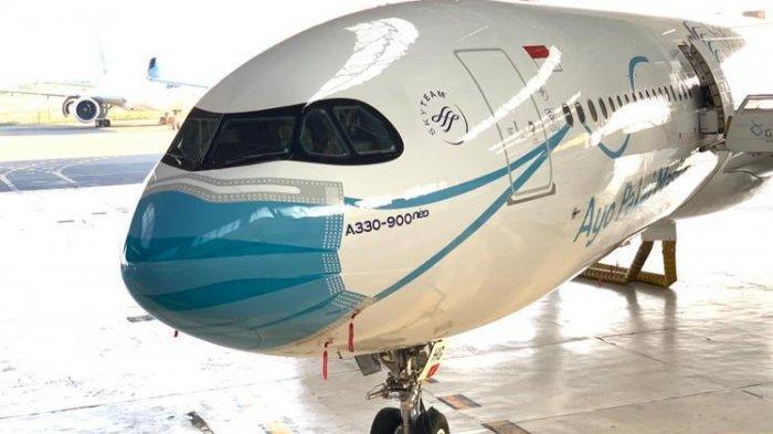 Keren! Ini Penampakan Airbus A330-900 Neo Garuda Indonesia Memakai Masker