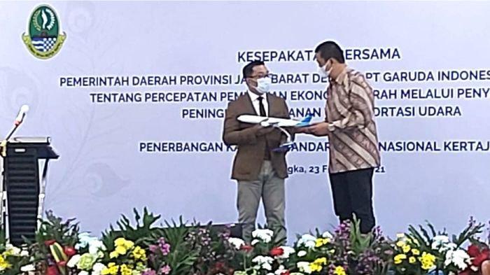 Gubernur Provinsi Jawa Barat RIdwan Kamil dalam kesempatan tersebut  menyampaikan bahwa Bandara Kertajati merupakan salah satu unsur penunjang dari terbentuknya tata ruang terintegrasi metropolitan rebana yang mengusung konsep live, work and play.