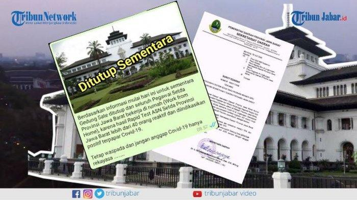 Buntut 40 Pegawai Gedung Sate Bandung Positif Corona, 800 Kontak Erat Akan Dites Swab