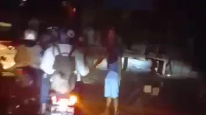 Kecelakaan maut yang terjadi di Gekbrong, Cianjur, Selasa (28/9/2021) malam.