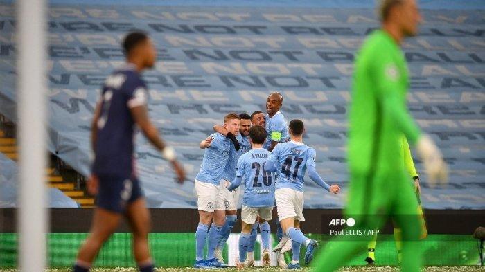 Hasil Liga Champions, Manchester City Lolos ke Final, Singkirkan PSG, Riyad Mahrez Jadi Pahlawan
