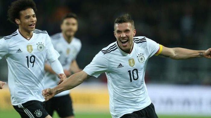 Perpisahan Sempurna Lukas Podolski dengan Timnas Jerman