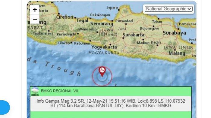Sore Ini Gempa Bumi Melanda Bantul Yogyakarta, Pusat Gempa di Laut Selatan, Ini Unggahan BMKG