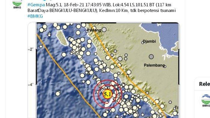 Gempa Bengkulu Kemarin Jadi Misteri Bagi Ahli, Warga di Tiga Daerah Ini Diimbau Waspada
