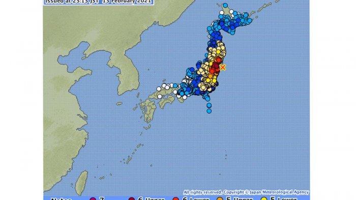 GEMPA DAHSYAT 7,3 Magnitudo di Fukushima Jepang, Kemenlu: Tidak Ada WNI Jadi Korban