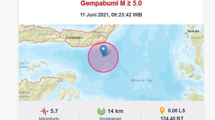 Daftar Daerah yang Merasakan Guncangan Saat Gempa M 5,7 Terjadi di Bolaang Mongondow Selatan Sulut
