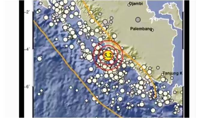 Gempa Bumi Guncang Seluma Bengkulu, Tadi Sore BMKG Laporkan Lindu di Pacitan Jatim
