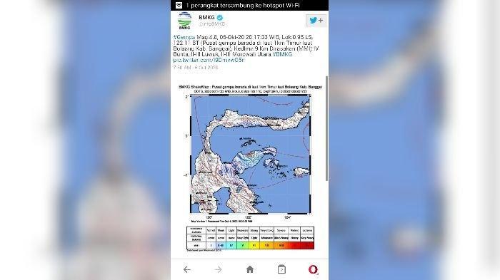 Tak Hanya di Lumajang, Gempa Juga Melanda Banggai Sulawesi Tengah, Berpusat di Laut Dekat ke Daratan