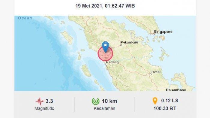 Dini Hari Tadi, Gempa Bumi Goyang Bukittinggi Padang, Berikut Antisipasi Gempa Menurut BMKG