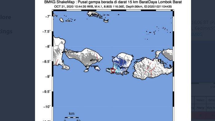 Baru Saja Gempa Darat Melanda Lombok Barat, BMKG Sebut Dua Daerah yang Rasakan Gempa