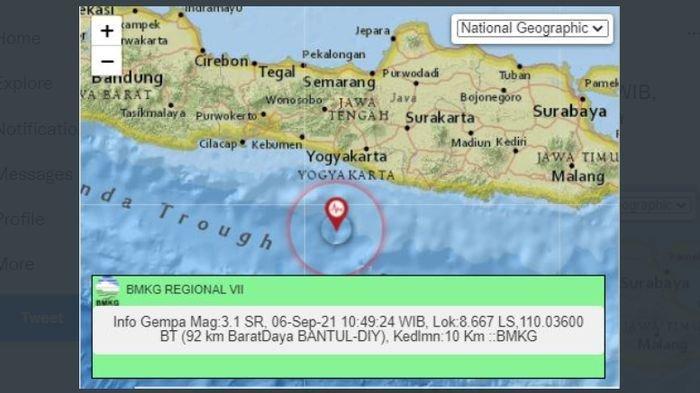 Menjelang Siang Ini, Gempa Melanda Bantul Yogyakarta, Sebelumnya Lindu Terjadi di Maumere Flores