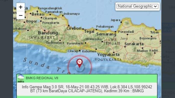Gempa Landa Cilacap Jateng, BMKG Catat Lumajang Jatim & Gunung Kidul Yogyakarta pun Diguncang Lindu