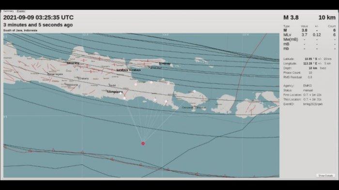Menjelang Siang, Gempa Melanda Jember Jatim, BMKG Yogyakarta: Berpusat di Kedalaman 10 Km