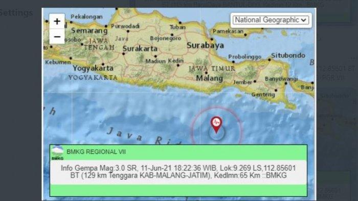 Malam Ini Gempa Bumi Goyang Bantul Yogyakarta dan Malang Jatim, BMKG Sudah Laporkan 3 Lindu di Jatim