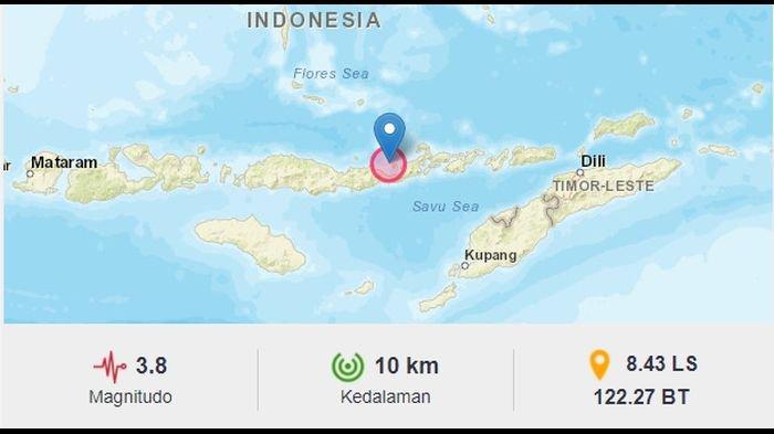 Pagi Tadi, Gempa Bumi Guncang Maumere Flores, BMKG Catat Pusat Gempa di Kedalaman 10 Km