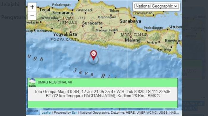 Ada Gempa Bumi Pacitan Jawa Timur Pagi Ini, BMKG juga Laporkan Gempa Kabupaten Malang Dini Hari