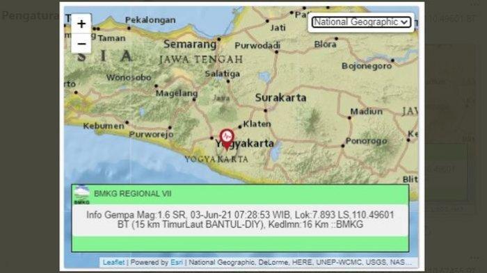 Gempa bumi mikro menggoyang Bantul, DI Yogyakarta, Kamis (3/6/2021).