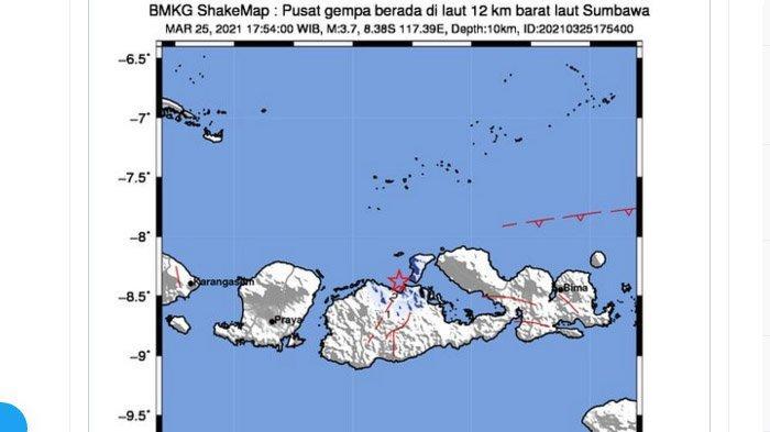 Gempa Bumi Melanda Sumbawa NTB Sore Tadi, Ini Daerah yang Rasakan Lindu