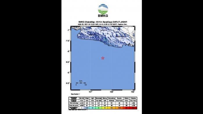 Pagi Ini Garut Diguncang Gempa Bumi M 4,9, Berasal dari Lempeng Eurasia, Warga Diimbau Tenang
