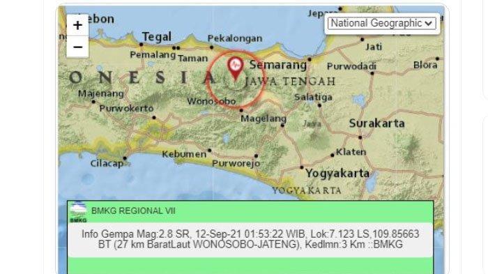 Gempa Darat Landa Wonosobo Pagi Tadi, Ini Unggahan BMKG