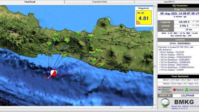 Gempa Bumi di Cilacap Dirasakan di Garut, Ini Penjelasan dan Imbauan BMKG