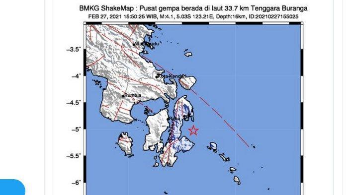 Sulawesi Diguncang Dua Gempa Sore Ini, yang Pertama Kekuatannya Lebih Besar