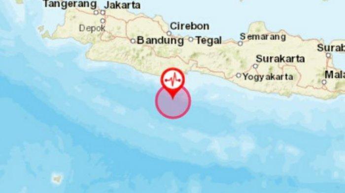 Ilustrasi gempa bumi di Pangandaran