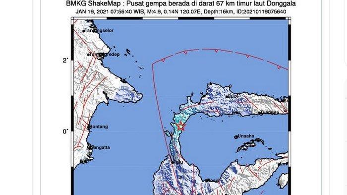 Gempa Darat Baru Saja Terjadi di Donggala Sulawesi Selasa Pagi, Ini Daerah yang Rasakan Gempa