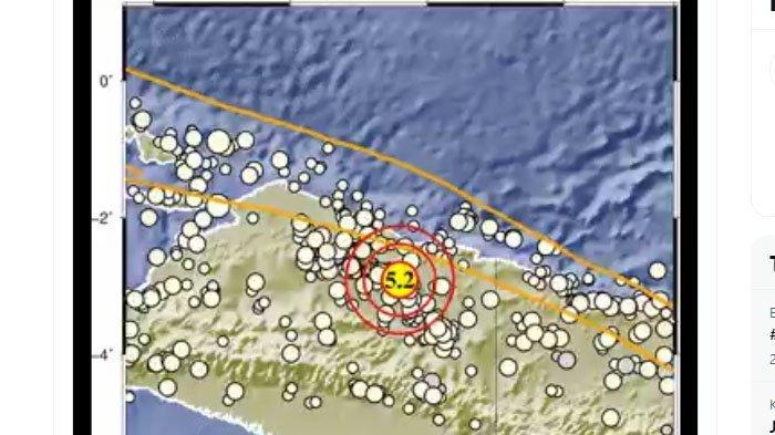 BARU Saja, Gempa 5,2 Melanda Jayapura Papua Malam Ini, Pusatnya di Darat, Berikut Unggahan BMKG