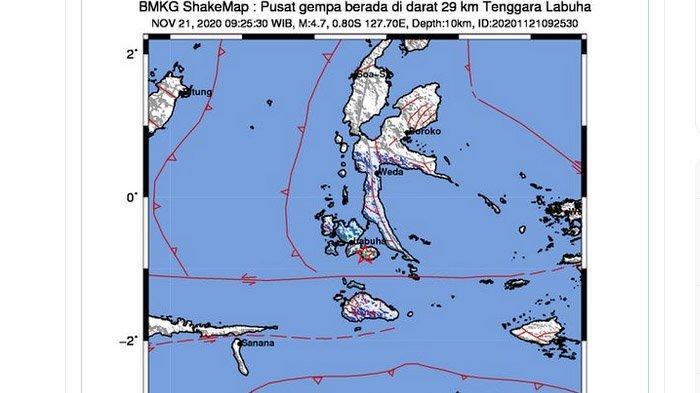 BARU Saja Terjadi Gempa Bumi Kembar Guncang Labuha Maluku, yang Kedua Lebih Besar, Ini Kata BMKG