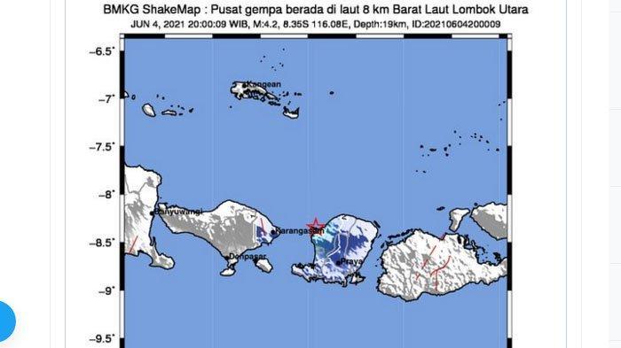 Baru Saja Gempa Guncang Lombok Malam Ini, Pusat Lindu di Laut Dekat ke Darat, Netizen: Dengkul Lemes