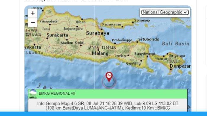 3 Info Gempa Hari Ini 8 Juli 2021 yang Diumumkan BMKG, dari Gempa di Trenggalek hingga Lumajang