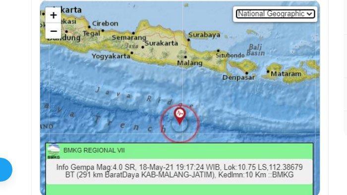 Baru Saja Gempa Terjadi di Malang, Pusatnya di Laut Selatan, Ini Kata BMKG