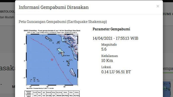 Gempa Bumi Hari Ini, Tadi Pagi Gempa 6,4 Skala Magnitudo Guncang Nias, Warga Sempat Panik