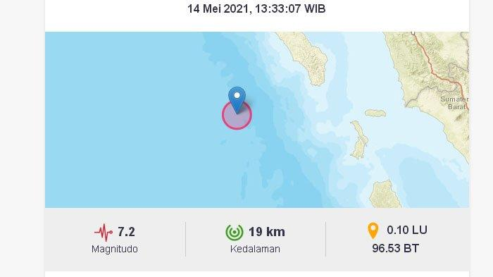 Intensitas Getaran Gempa Nias Barat Dirasakan Beragam, Tak Potensi Tsunami, Namun BMKG Ingatkan Ini