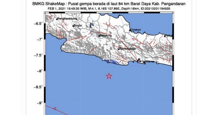 Gempa 4,1 Melanda Pangandaran Senin Malam, Ini Kata Sejumlah Warga Ciamis
