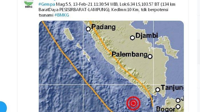 Daftar 5 Gempa Kembar yang Sempat Mengguncang Indonesia, Paling Banyak di Sumatera, 1 di Pangandaran