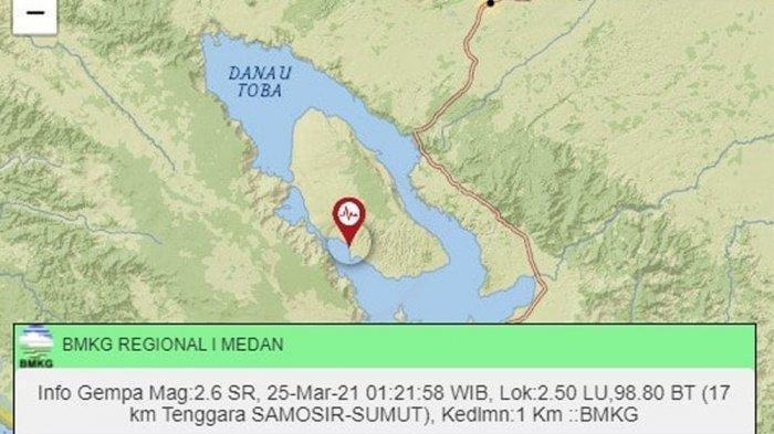 Wilayah Pulau Samosir Sudah Diguncang 39 Kali Gempa Bumi di Awal 2021, Pertanda Apa? Ini Kata BMKG