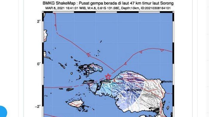 Dua Gempa Guncang Indonesia Timur Sore Ini, Hanya Berselang Dua Menit, Maluku 5,1 Lalu Sorong 4,8