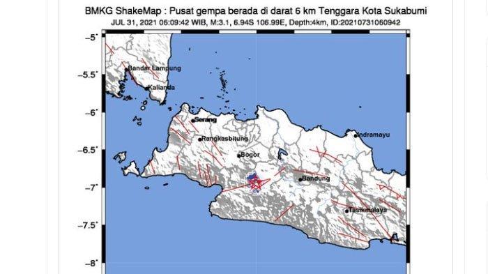 Sesar Cimandiri Tengah Menggeliat, Dua Gempa Terjadi Dalam Dua Hari Ini, Pusat Lindu Berdekatan