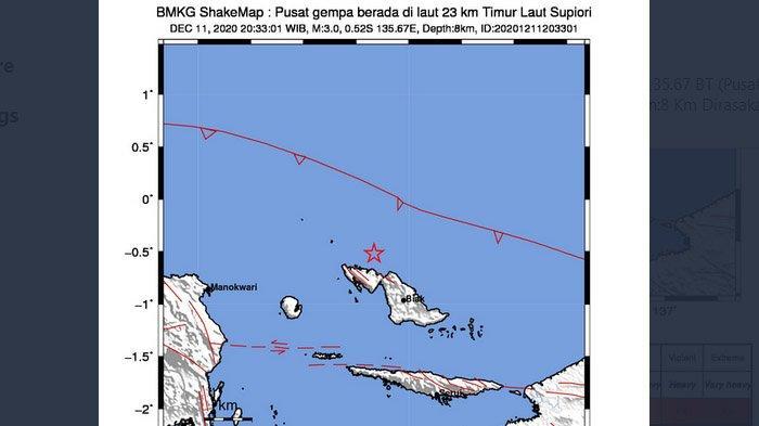 Dua Gempa Bumi Melanda Indonesia Jumat Malam Ini, di Lombok Terasa Sampai Bali, Lalu Biak