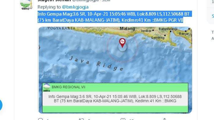 DUA Gempa Susulan Baru Saja Melanda Malang, Pusat Gempa di Laut Selatan Terus Mendekat ke Darat