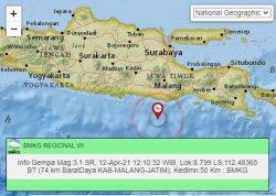 Baru Saja Terjadi Gempa Susulan di Malang Siang Ini, Pusat Lindu Sama Berada di Laut Selatan
