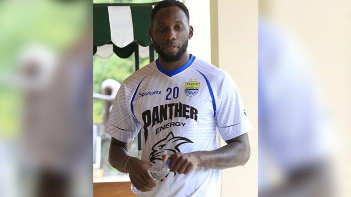 Pemain seleksi asing baru, Geoffrey Castillion mulai mengikuti latihan bersama Persib Bandung di Green Forest, Lembang, Kamis (30/1/2020).